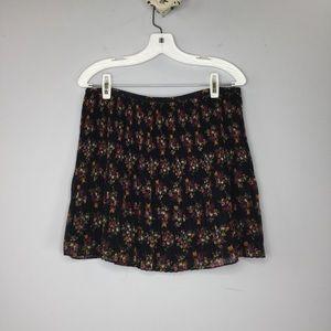Madewell pleated floral mini skirt
